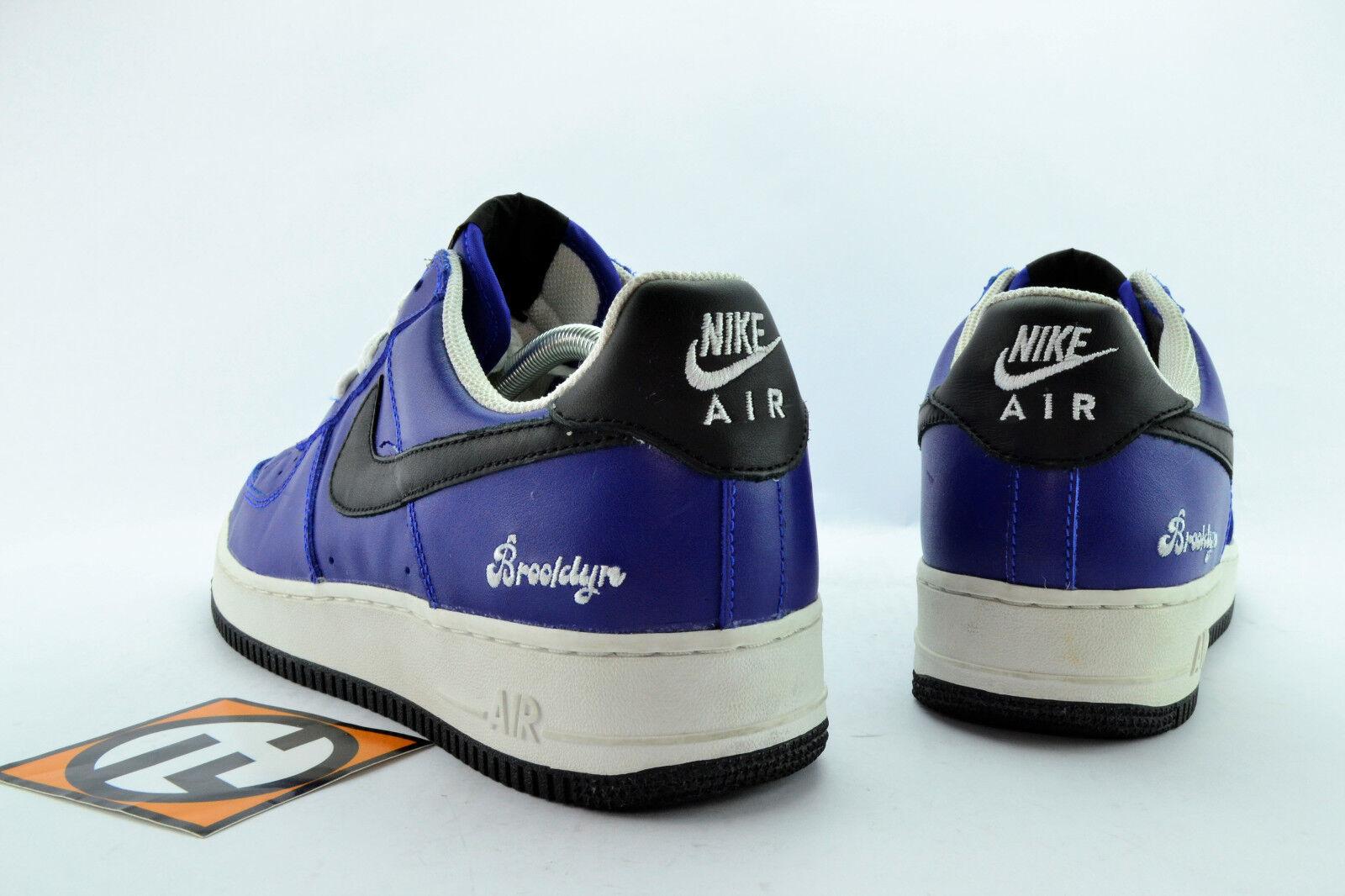Nike Air Force 1 Brooklyn Sport Royal Black White Size 10.5 2004' 306353 401