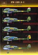 Hungarian Aero Decals 1/72 FOCKE WULF Fw-189A-1 Tactical Recon Plane