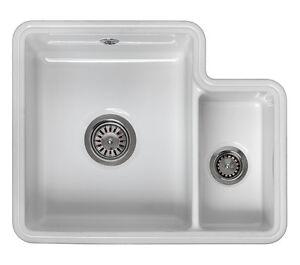 Reginox Tuscany 1.5 Bowl White Ceramic Undermount Kitchen Sink | eBay