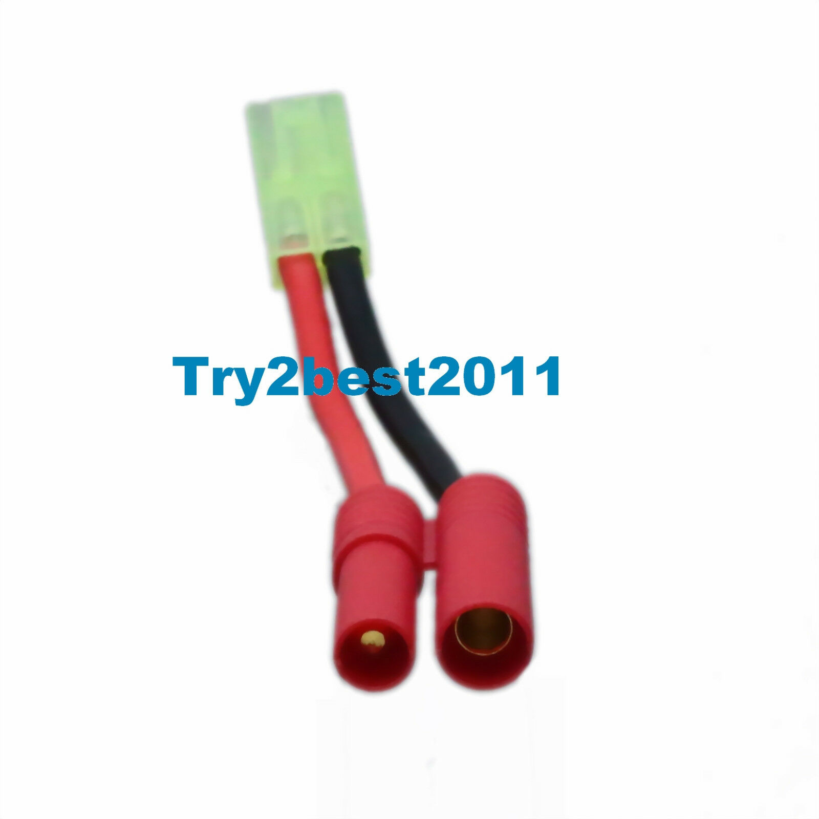 HXT 4MM Bullet to Tamiya male /& female No wire adapter for Turnigy Battery