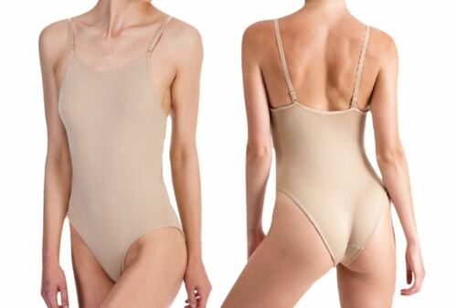 Girls Silky Dance Seamless Low Back Camisole Nude