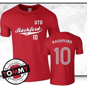 new styles e6a9c 0efcc Details about Man Utd Marcus Rashford #10 T-Shirt, MUFC T-Shirt Fan MUFC  tshirt