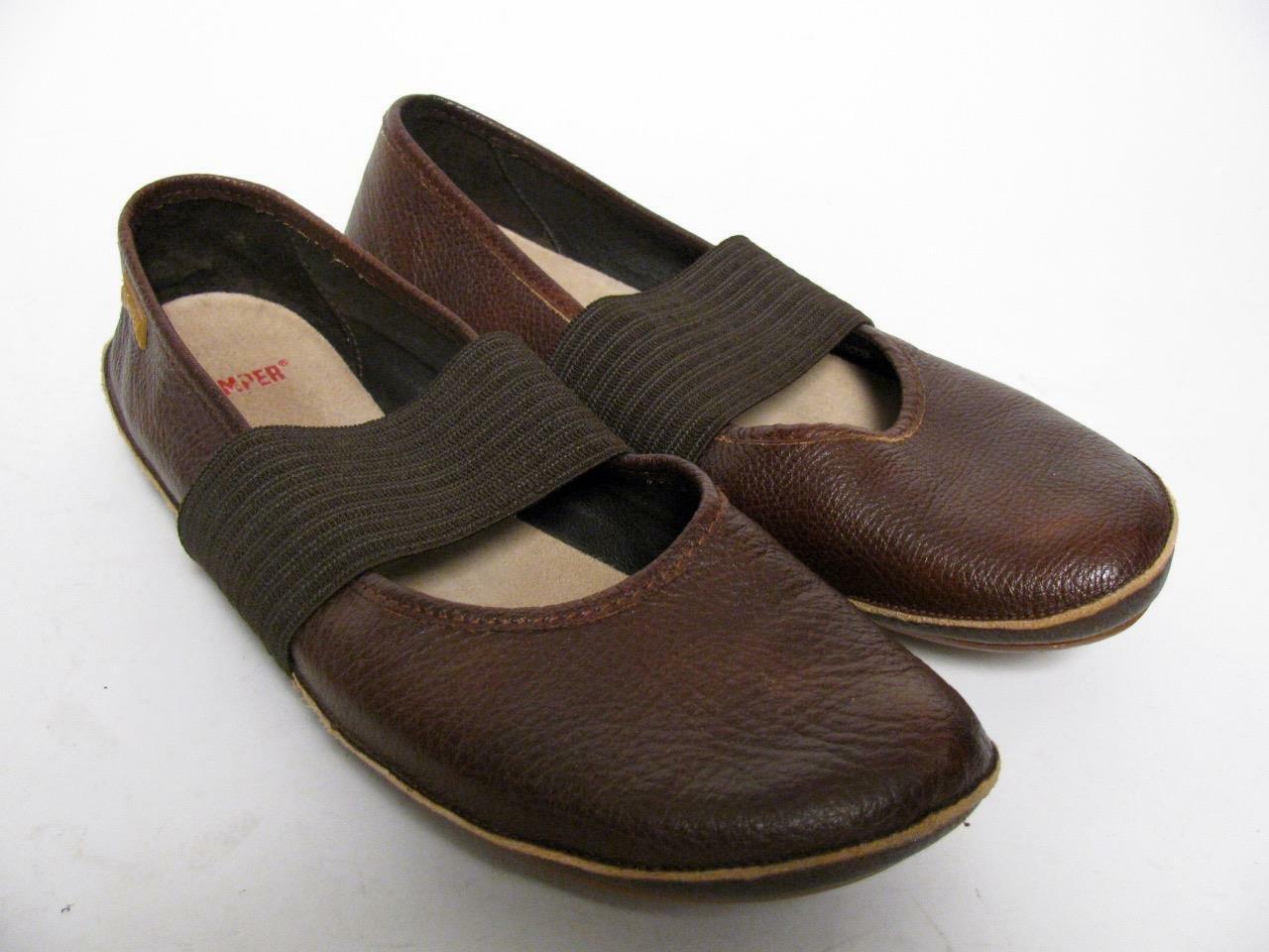 CAMPER en cuir marron Nina Mary Jane Slip On Ballerines chaussures Décontractées Confortable  40