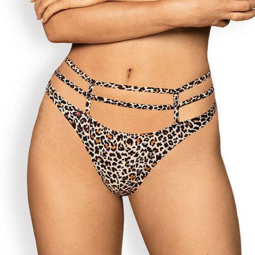 Details about  /OBSESSIVE Selvy Luxury Super Soft Decorative Leopard Print Thong