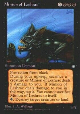 1 Minion of Leshrac = Black Ice Age Mtg Magic Rare 1x x1