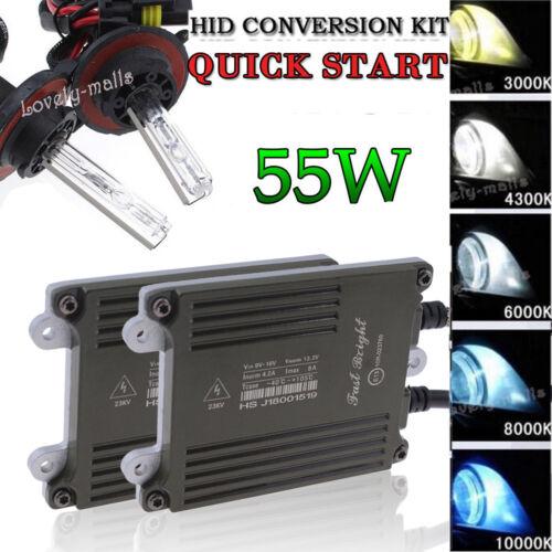 Quick Start 55W Car HID Xenon Conversion KIT Bulbs Fog Light 43K 5K 6K 8K 10K LQ