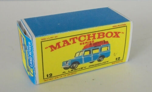 12 SAFARI LAND ROVER BLU anziano REPRO BOX MATCHBOX 1:75 n