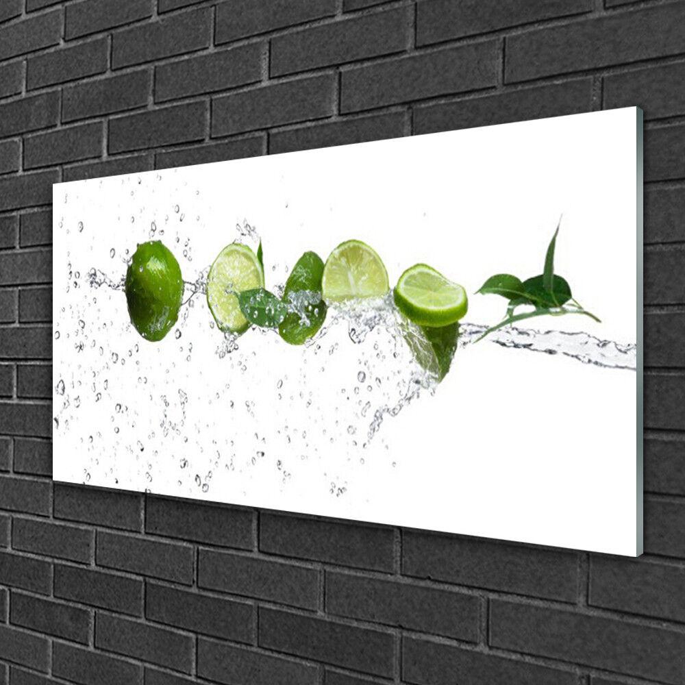 Immagini parete 100x50 Vetro Immagine Stampa su vetro LIMETTE LIMETTE LIMETTE CUCINA ACQUA 7438d1