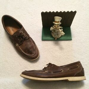 cole haan casual leather boat deck shoes mens size 105 m