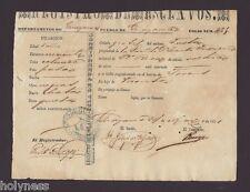 REGISTRO DE ESCLAVOS / SLAVERY DOCUMENT / GUAYAMA PUERTO RICO / 1871 RARE