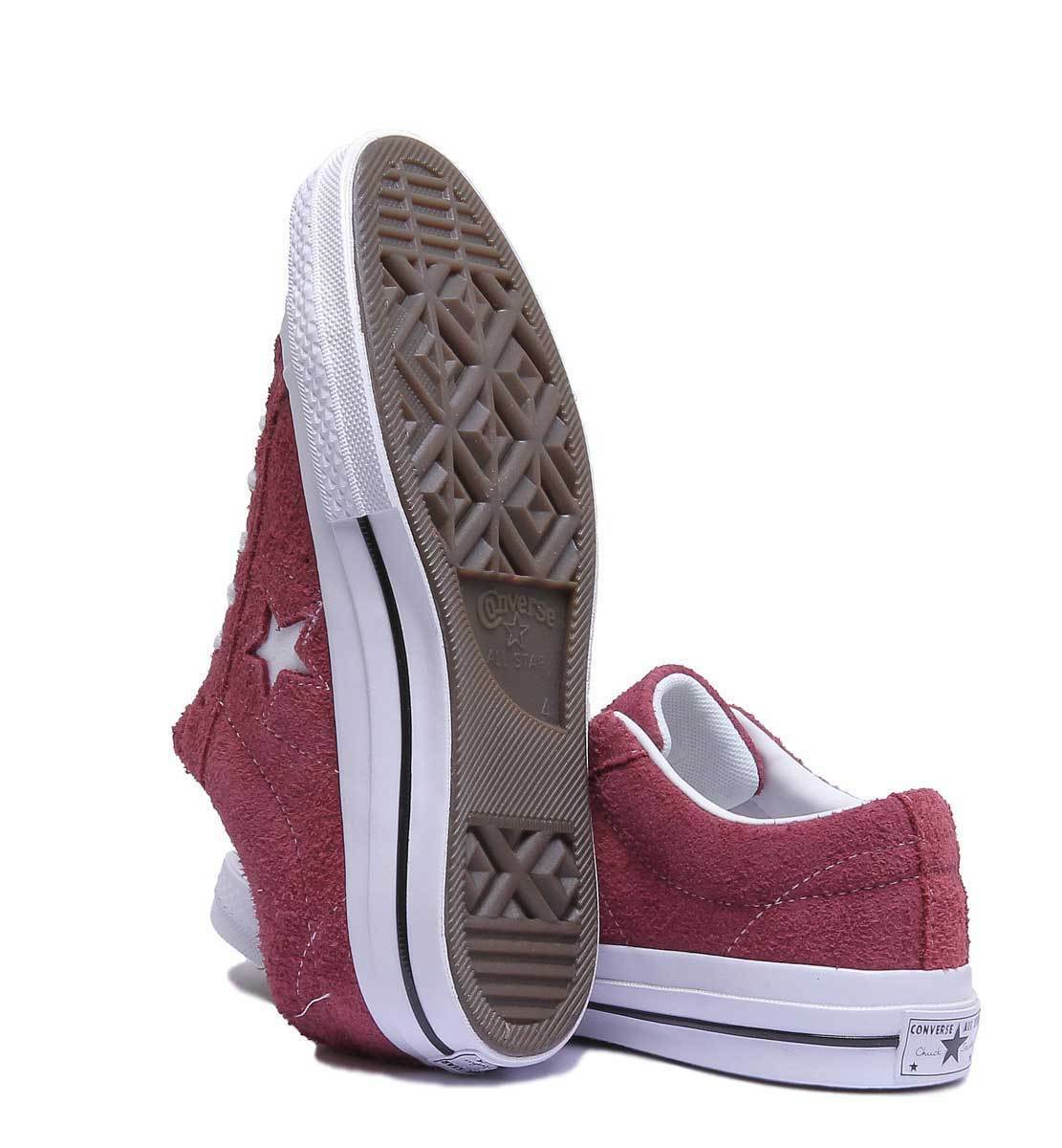 Converse One Trainers Star Premium Suede Women Suede Leather Maroon Trainers One 3 - 6.5 8d04d6