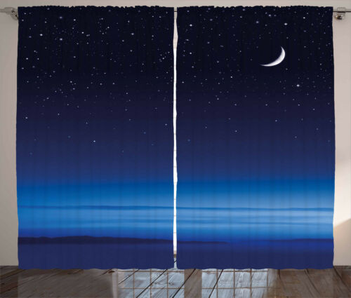 Night Curtains 2 Panel Set for Decor 5 Sizes Available Window Drapes