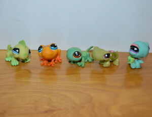 Littlest Pet Shop Frog Gecko Iguana Lizard Turtle Lps Mini Figure Lot Hasbro T3 Ebay