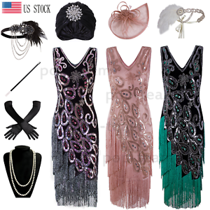 66c4ac80349 Image is loading 1920s-Vintage-Costume-Flapper-Gatsby-Wedding-Party-Layered-