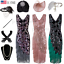 1920s-Vintage-Costume-Flapper-Gatsby-Wedding-Party-Layered-Tassel-Cocktail-Dress thumbnail 1