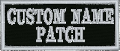 "2 line Custom 3.5"" Name Tag Patch Motorcycle Biker"