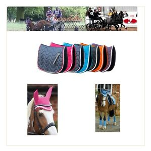 Rhinegold-Wave-Elite-Saddle-Pad-AND-Matching-Fly-Veil-Numnah-Cloth