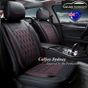 Image Is Loading Leather Car Seat Cover Black Red Mitsubishi Lancer