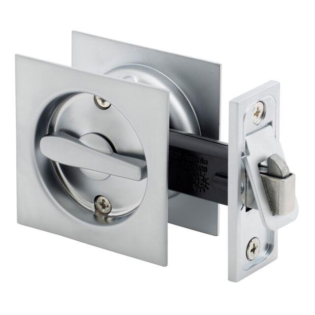 Gainsborough SQUARE SLIDING CAVITY PRIVACY SET Satin Chrome *Australian Brand  sc 1 st  eBay & Gainsborough Square Sliding Cavity Door Lock - Privacy Set | eBay
