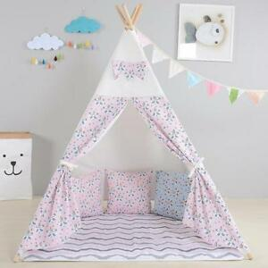 Image is loading Children-039-s-Pink-Kids-Teepee-Girls-play-  sc 1 st  eBay & Childrenu0027s Pink Kids Teepee. Girls play tent playhouse wigwam ...