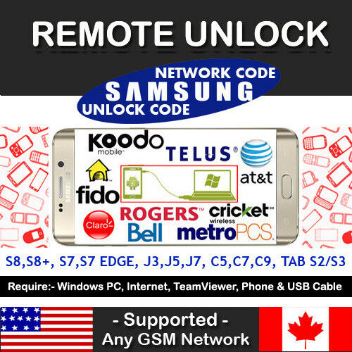 At&t Cricket USA Samsung Galaxy J3 Emerge J7 Sol 2 Remote Unlock Code  Service