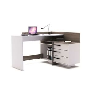 Image Is Loading Dark Oak And Pearl White Home Modern Office
