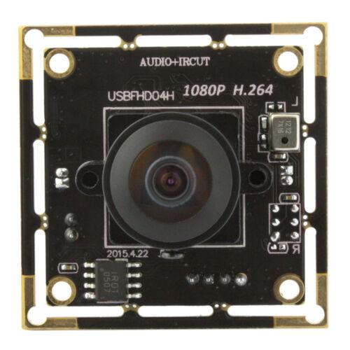 """180° Fisheye Lens HD 1080P 1//4/"""" CMOS AR0330 Hidden USB Camera Module H.264"""