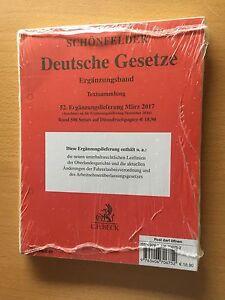 SCHONFELDER-Deutsche-Gesetze-Textsammlung-Ergaenzungsband-52-EL-03-2017