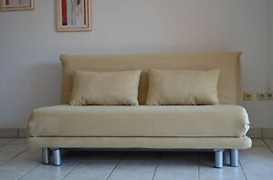 ligne roset multy 3 schlafsofa in microfaser sand ebay. Black Bedroom Furniture Sets. Home Design Ideas