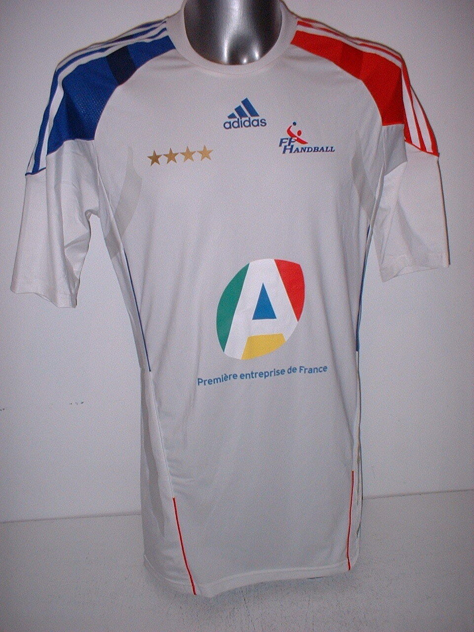 France Handball Adult XL Player Adidas Shirt Jersey Top Trikot National Techfit