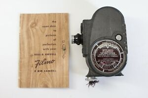 1930's Vintage Bell & Howell Filmo Sportster Double Run Eight 8mm Movie Camera