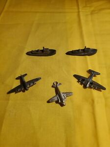 Vintage-Metal-Cracker-Jack-Gumball-Prize-Toy-Military-Planes-amp-Boats