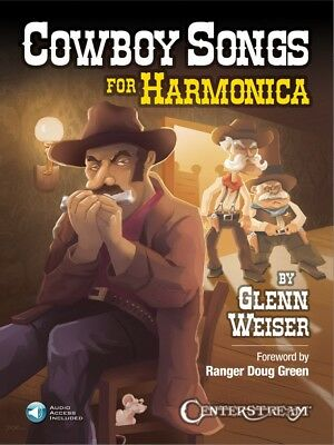 Cowboy Songs For Harmonica Harmonica Book And Audio New 000242719 Driving A Roaring Trade Wind & Woodwinds Musical Instruments & Gear