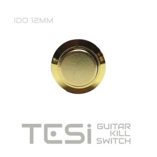 Tesi IDO 12MM Gold Metal Momentary Push Button Kill Switch Guitar or Bass