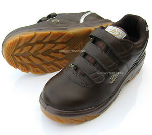 New Men Brown Chef Shoes Safety Work Shoes Steel Toe Cap work Non-Slip