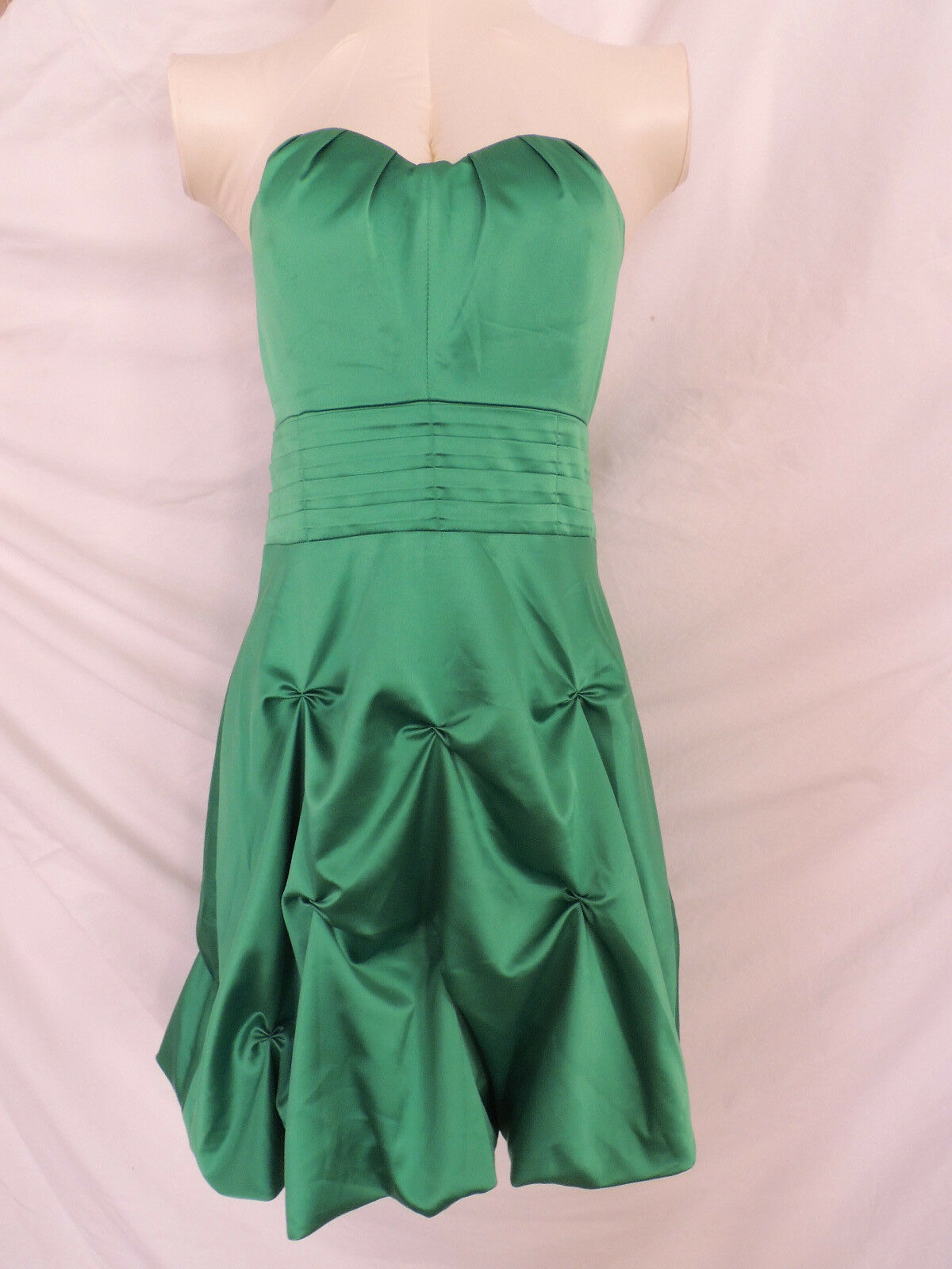 KITTY Sexy Yet Classy ADORABLE Satin Green Stretchy Dress Pin Up Vintage S