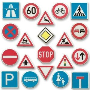 Edible Road Traffic Signs Cupcake Topper Cake Decoration