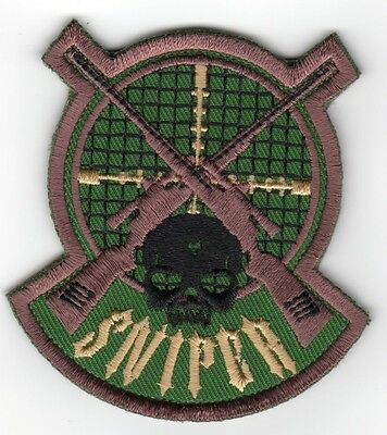 ARMY MILITARY FOREST MORALE MILSPEC SPECIAL BLACK OPS SNIPER PATCH