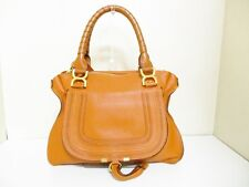 Authentic Chloe Orange Marcie Leather Handbag w/ Guarantee