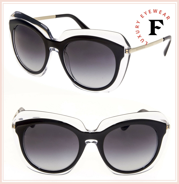 DOLCE & GABBANA DOUBLE LINE Crystal Black Oversized 4282 Sunglasses DG4282S