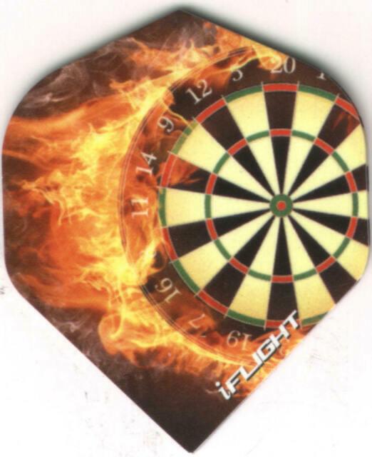 "3 per set /""IN FLAMES/"" TARGET Dart Flights"