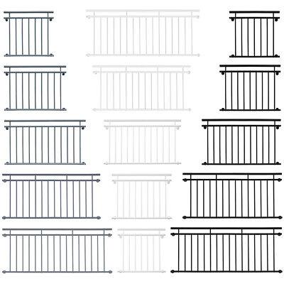 Edelstahl Franz/ösischer Balkon Gel/änder Balkongel/änder 90 x 100 cm V2Aox