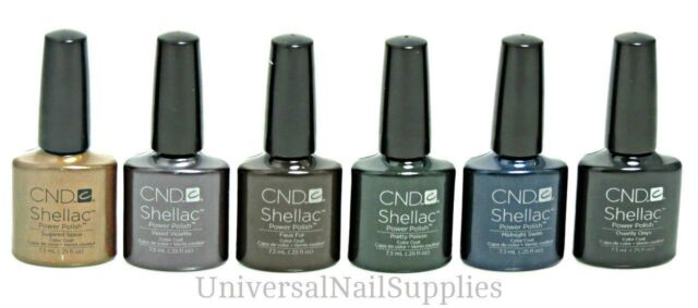 CND Shellac 2012 UV Gel Polish Winter Wonderful Collection 6 Color Set .25oz