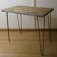 Industrial Rustic Recycled Solid Pallet Wood Dining Table and Steel Hairpin Legs