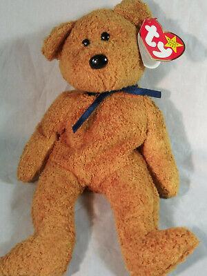 """Ty Beanie Baby Original /""""Fuzz/"""" Bear Plush Stuffed Toy Born July 23 1998 NEW NWT"""