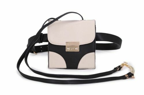 New Women/'s Two Toned Colour Multi Ways Of Wearing Style Bag Messenger//Bum Bag