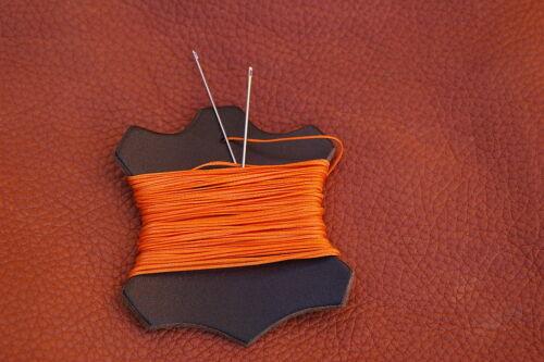 Fuerte Ritza Naranja 1mm De Espesor De Cuero De Coser De Mano puntada Hilo Encerado