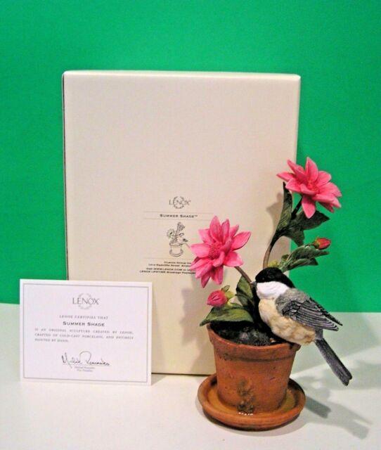 Lenox Summer Shade Sculpture With Coa Chickadee Bird For Sale
