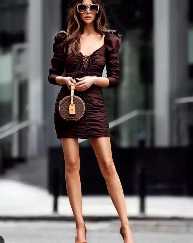 df5b0725 BNWT ZARA Short Draped Dress Size L Fav Studio Bloggers npqtxw5807 ...
