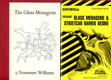 The Glass Menagerie by Tennessee Williams & Cliffs Notes study guide -Free Ship!